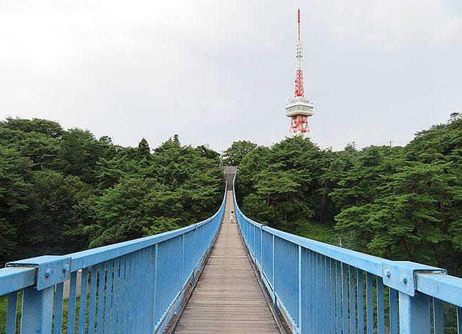 アドベンチャーブリッジと宇都宮タワー