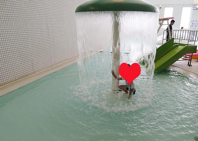 噴水(水深0.55m)