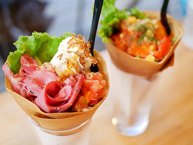 「パストラミビーフとマッシュポテト」 & 「栃木の彩り野菜とホエー豚のベーコン」