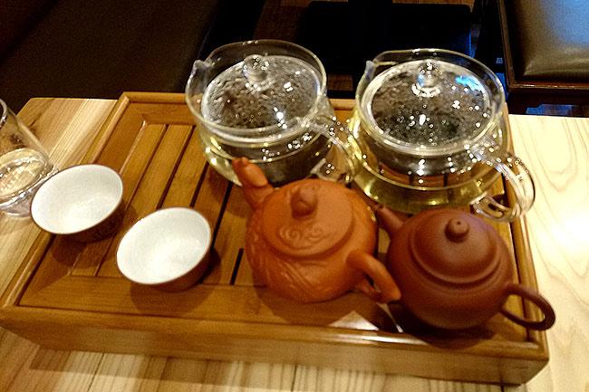 小籠包酒場 えびす oyama のランチセットのお茶