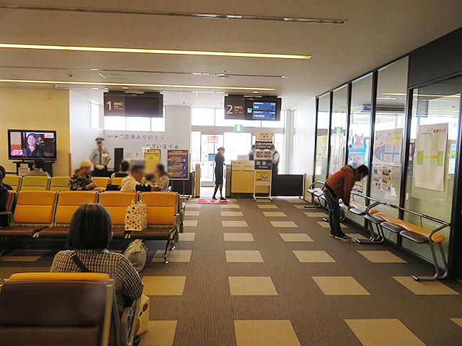 茨城空港の国内線搭乗口