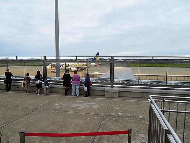 茨城空港の展望デッキ
