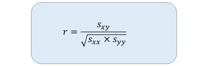相関係数を求める公式