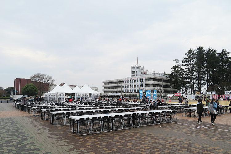 最強ラーメン祭り小山2019 食事スペース