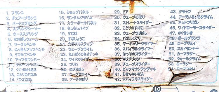 永野川緑地公園 遊具一覧