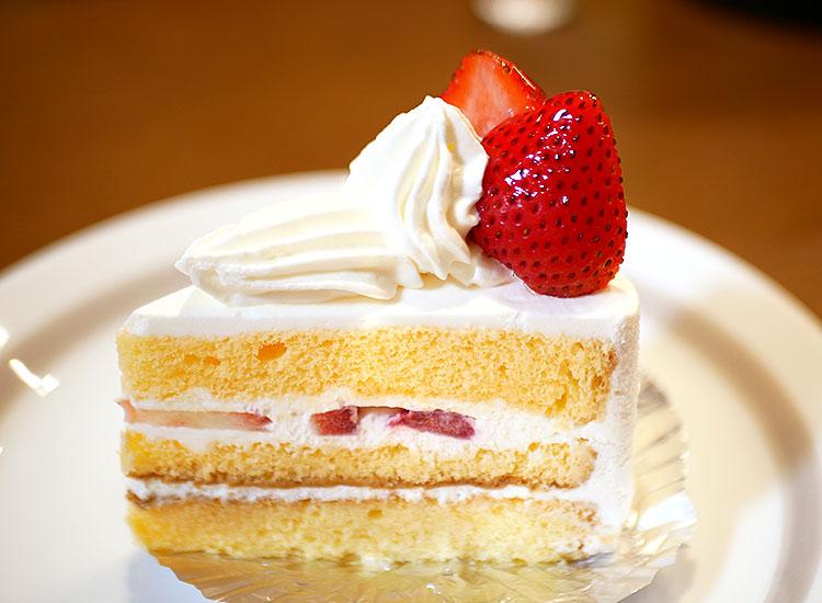 小山市 エンジェル洋菓子店のショートケーキ