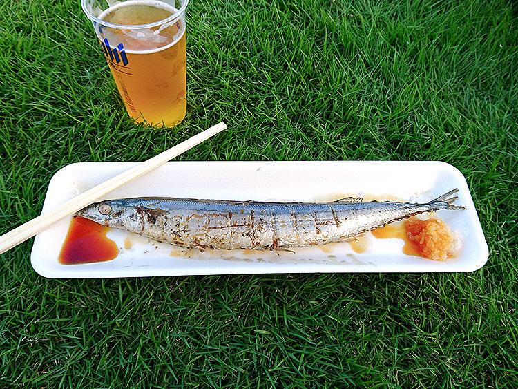 小山のビール祭り_さんま