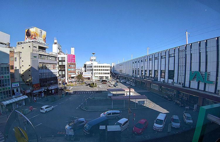 カフェ みこと から見た小山駅