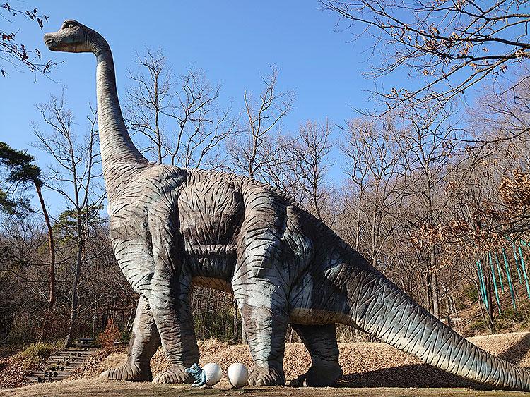佐野運動公園の恐竜