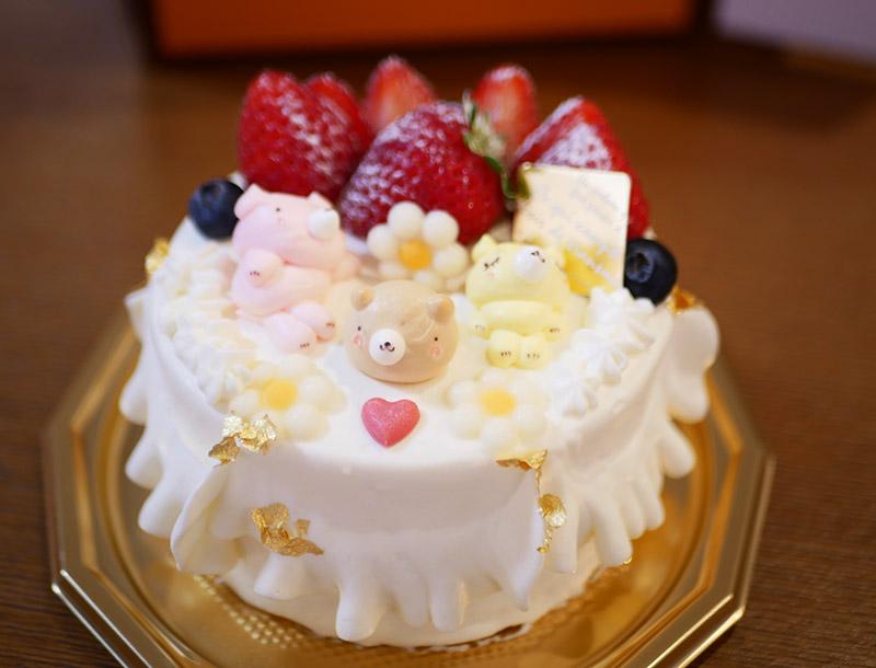 寝クマのケーキ アンデュルジャン 苺ショートケーキ