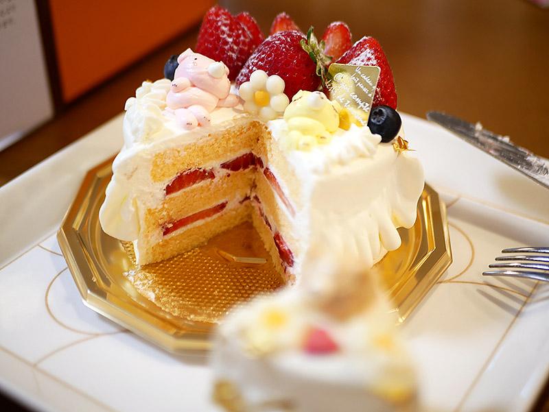 寝クマのケーキ アンデュルジャン 断面